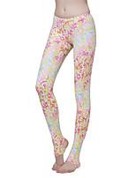 SBART® Mulheres Calça de Mergulho Fato de Mergulho Calças-Mergulho Praia Primavera Verão Outono Inverno Moderno Floral / Botânico