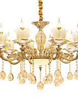 European Style Atmosphere Zinc Alloy Crystal Living Room Bedroom Home Chandelier I