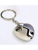 Key Chain Heart-Shaped Key Chain Silver Metal