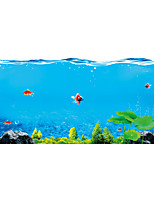 The Bottom Of The Sea Fish Seamless Splice 3D Seawater PVC Glass Stickers Decoration for The Bathroom
