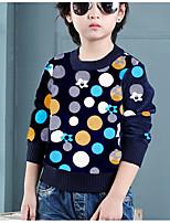 Casual/Daily Print Sweater & Cardigan,Cotton Winter Long Sleeve Regular