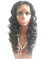 venta al por mayor 24inch ondulado medio brasileño peluca de cabello humano larga grandes del frente del cordón rizado pelucas vírgenes