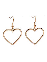 Drop Earrings Jewelry Alloy Basic Heart Gold Silver Jewelry Party Halloween Daily Casual 1 pair