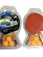 3 Звезд Ping Pang/Настольный теннис Ракетки Ping Pang/Настольный теннис Бал Ping Pang Резина Короткая рукоятка Прыщи2 Ракетка 3 Мячи для