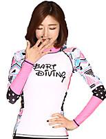 SBART® Women's Wetsuit Jacket Anti-Eradiation Sunscreen Elastane Tactel Diving Suit Long Sleeve Tops-Swimming SurfingSpring Summer