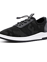 Men's Athletic Shoes Comfort Light Soles Tulle Sneakers Casual Flat Heel Running Shoes Black Blue Grey
