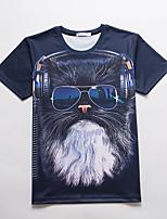 Tee-shirt Homme,Imprimé Décontracté / Quotidien Soirée / Cocktail Soirée Chic de Rue Actif Punk & Gothique Manches Courtes Col Arrondi