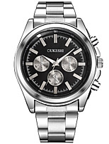 Men's Dress Watch Fashion Watch Casual Watch Chinese Quartz Stainless Steel Band Cool Casual Silver White Black