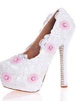 Белый-Для женщин-Свадьба Для праздника Для вечеринки / ужина-Лакированная кожа-На шпильке-Удобная обувь Оригинальная обувь-Обувь на
