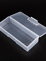 1pcs инструмент ясно из пластика ногтей ящика для хранения наконечника случая (случайный цвет