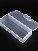 1PCS Clear Plastic Nail Art Tip Storage Box Case Tool(Random color