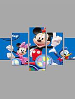 Tela de impressão Animal Fantasia Moderno Clássico,5 Painéis Tela Qualquer Forma Impressão artística Decoração de Parede For Decoração