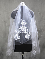 Wedding Veil One-tier Elbow Veils Fingertip Veils Cut Edge Tulle