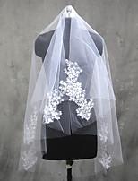 Свадебные вуали Один слой Фата до локтя Фата до кончиков пальцев Обрезанная кромка Тюль