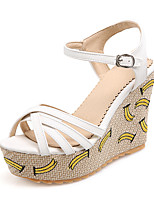 Sandals Spring Summer Fall Slingback PU Office & Career Party & Evening Dress Wedge Heel Buckle