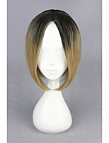 Short Haikyuu!!-kozumekenma Black&Blonde 14inch Anime Cosplay Wig CS-186F