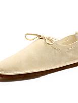 Men's Loafers & Slip-Ons Spring / Summer Comfort PU Casual Flat Heel Slip-on Black / Grey  Walking