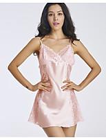 Jarretelles & Bretelles Vêtement de nuit Femme Couleur Pleine-Mince Polyester Aux femmes