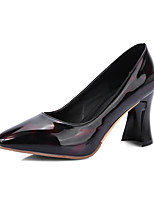 Heels Spring Summer Fall Club Shoes Patent Leather Office & Career Dress Casual Chunky Heel
