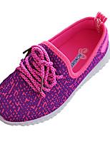 Черный Пурпурный Синий-Девочки-Повседневный-Полиуретан-На низком каблуке-Удобная обувь-Спортивная обувь