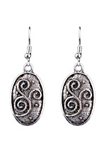 European And American Fashion Retro Carved Alloy Earrings