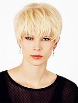 Fluffy  Comfortable  Short Hair Human Hair Wig For Women