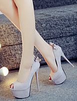 Зеленый Верблюжий Красный/Белый-Для женщин-Для прогулок Повседневный Для вечеринки / ужина-Шёлк Кожа-На шпильке-Light Up обувь-Обувь на