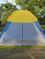 3-4 persons Single One Room Camping TentCamping Traveling-Yellow Blue