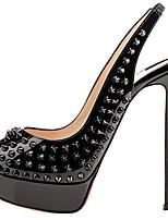 Women's Heels Summer Fall Club Shoes Novelty PU Party & Evening Dress Casual Platform Rivet