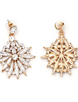 Earrings Set Crystal Flower Style Euramerican Fashion Chrome Jewelry For Wedding Party Birthday Gift 1 pair