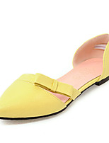 Women's Flats Spring Summer D'Orsay & Two-Piece Comfort Light Soles Leatherette Office & Career Dress Casual Flat Heel Bowknot Hollow-out