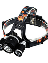 Headlamps LED Lumens Mode 18650 Easy Carrying Camping/Hiking/Caving Everyday Use Outdoor Aluminum alloy ABS