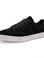 Черный Серый-Для мужчин-Для прогулок Повседневный Для занятий спортом-Полиуретан-На плоской подошве-Туфли Мери-Джейн-Кеды