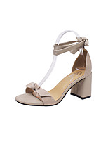 Women's Sandals Summer Comfort Synthetic Outdoor Dress Casual Chunky Heel Lace-up Walking