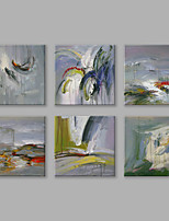 IARTS®Oil Paintings Set of 6 Modern Abstract Wall Art Hand Painted Canvas Ready to Hang