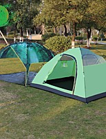 3-4 persons Double One Room Camping TentHiking Camping Traveling-Green