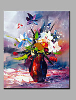 Hand-Painted Abstract Flowers Miniascape  Modern One Panel Canvas Oil Painting For Home Decoration