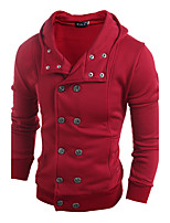 Men's Going out Sweatshirt Solid Shirt Collar Micro-elastic Cotton Long Sleeve Spring Fall