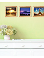 3D Fake Photo Frame Landscape Creative Triptych Sitting Room The Bedroom Decorates A Wall Post