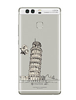 For Huawei P10 P9 Transparent Pattern Case Back Cover Case The Leaning Tower of Pisa Soft TPU for Huawei P10 Plus P9 Plus P9 Lite P8 Mate8 Mate9 Pro