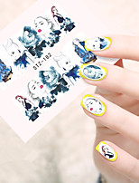 10pcs/set Hot Fashion Nail Art Water Transfer Decals Beautiful Girl Design Sticker Fashion Girl Nail Art Beauty STZ-182