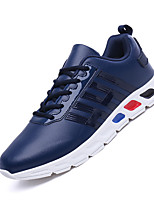Men's Sneakers Spring Summer Comfort Leather Athletic Fitness & Cross Training Flat Heel Lace-up White Black Red Blue