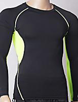 Homens Blusas Exercício e Atividade Física Respirável Primavera Verão Preto-Outto®-S M L XL XXL XXXL