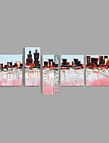 New York City Picture Canvas Handpainted Oil Painting American Style Wall Art Gift With Stretched Frame Ready to Hang