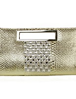 L.WEST Japanese style woman snakeskin bright leather hand bag