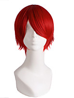 Popular Short Wig Red Color Curly Synthetic Wigs For Afro Women