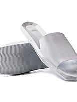 Unisex-Pantofole e infradito-Tempo libero Casual-Comoda-Piatto-PU (Poliuretano)-Bianco Nero