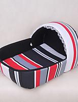 кошка собака кровать домашние кровать черная полоса ткани