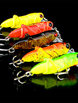 5 pcs Minnow Random Colors 3.5 g Ounce mm inch,Plastic General Fishing