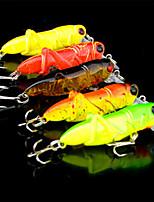 5 штук Воблер прогонистой формы Случайный цвет 3.5 г Унция мм дюймовый,Пластик Обычная рыбалка